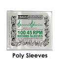 Poly Sleeves for 45rpm records