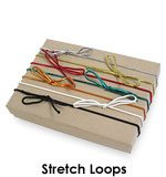 Stretch loops for Greeting card boxes