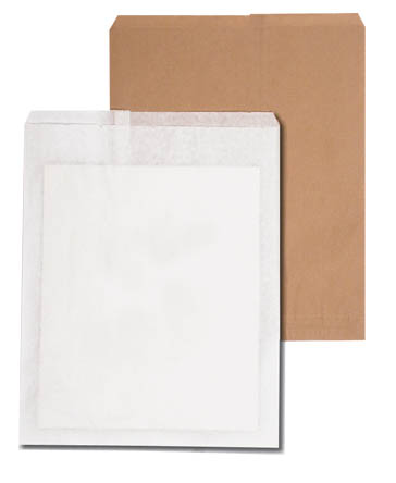 Flat Kraft Paper Merchandise Bags Are Available In Both White And Natural Pape