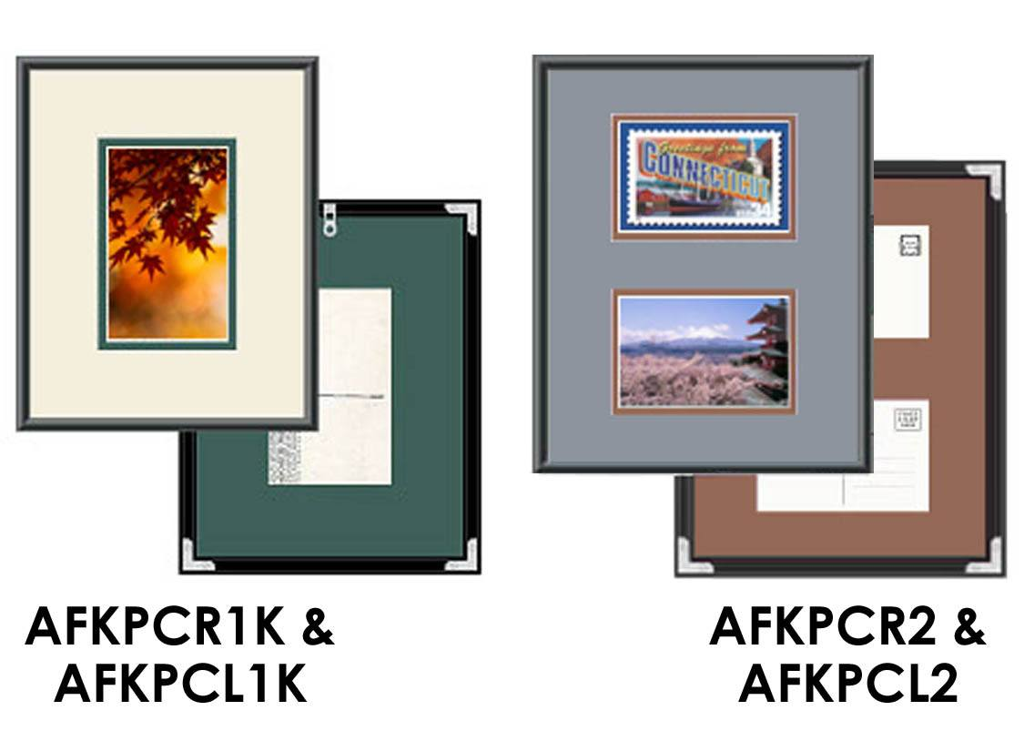 designed for viewing front and back of postcard these terrific frames not only display your favorite postcards