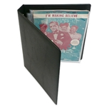 Oversized SHEET MUSIC BINDER - Holds SMALL Sheet Music.