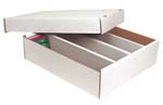 Trading Card BOXES - White Corrugated. TWO-piece boxes. LxWxH