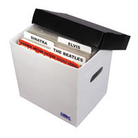 "12"" Record Storage Box, PLASTIC Corrugated"