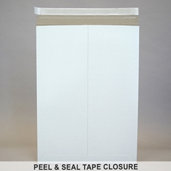 "Rigid Mailer .028"" thick White Clay Coat."