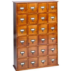 Multimedia Library Card File CD Cabinets. <br>Holds 456 CDs, 192 DVDs or 96 VHS Tapes.