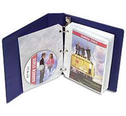 Univenture DVD Binder with pages. Holds 20 DVDs and graphics.