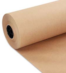 Kraft WRAPPING PAPER - 50#.   1065' per roll.
