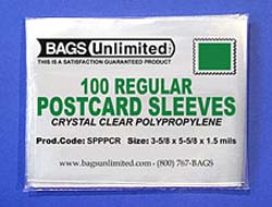 REGULAR Postcard Sleeve<a id=&quot;poly&quot;></a>