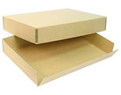SLIDE STORAGE BOX-  Tan Archival Barrier Board