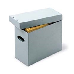 Acid-free file boxes.