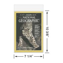 Poly Sleeves for National Geographic Magazines