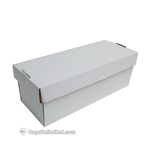 "CD/VHS/DVD/5"" Reel Storage Box-WHITE CORRUGATED CARDBOARD"