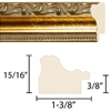 Assembled Pine Wood Frame - Gold Finish