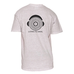 Natural Cotton T-Shirt - Record with Headphones