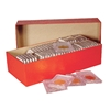 Double Row Coin Slab Red Storage Boxes