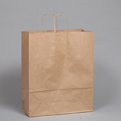 "Kraft Paper Gift Bag 16 x 6 x 19"" - Natural."