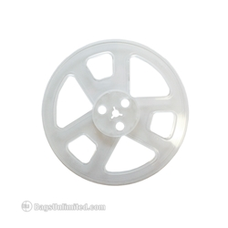 "7"" Audio Tape Reels. Clear plastic reels for magnetic audio tape."