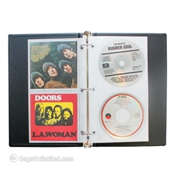 Univenture CD Binder with pages. BLACK.