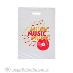 Preprinted MUSIC DESIGN flat Poly Bag 11 x 15