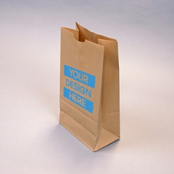 Flat bottom Grocery Bags - Natural Kraft