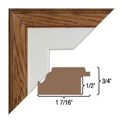 Solid Oak WOOD FRAME-Assembled. 860 Profile.