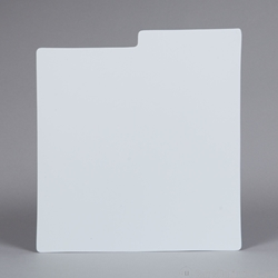 LP Record Divider Card - WHITE.<BR> .030