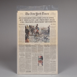 Newspaper Sleeve. Holds single sheet.