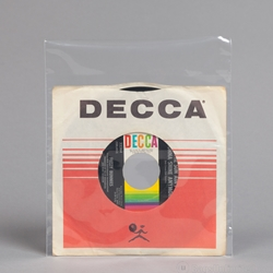 45 rpm Record OUTER Sleeve<font color=red> with flap</font>.<br> 7-1/2 x 7-1/4