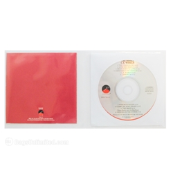 CD Gatefold Sleeve. Center loading.  <br> Jacketed CD in one side; Booklet in the other. <br> 4 mil POLYETHYLENE.