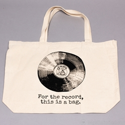 "PRINTED 10 oz. Cotton Tote-  HEAVY weight. 15  x 18  x 6""."