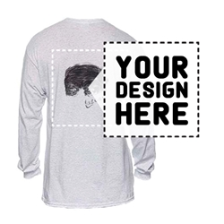 ADULT PRINTED T-SHIRTS. Long Sleeve. WHITE.