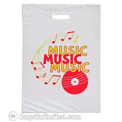 Pre-printed MUSIC DESIGN flat Poly Bag 14 x 20""