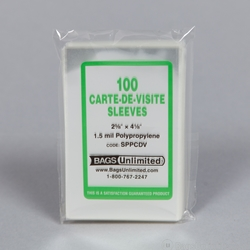 POLYPROPYLENE <b>Sleeves </b> for CARTES de VISITE