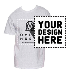 MEN'S PRINTED T-SHIRTS. Short Sleeve. WHITE.