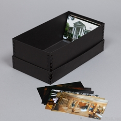 PHOTO BOXES - Acid-Free. 40pt. Black Barrier Board.