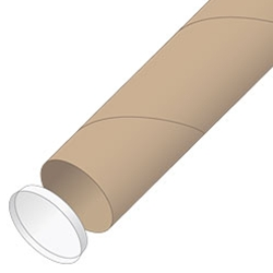 Round Mailing Tube with end caps.