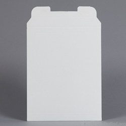 "Rigid Mailer - White Clay Coat. 9-1/2 x 11-3/4""."