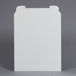 "Rigid Mailer .028"" thick. White Clay Coat"