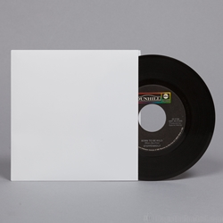 "45 rpm Record Jacket - WHITE 7 x 7"". NO Hole. Made from 18pt Paperboard"