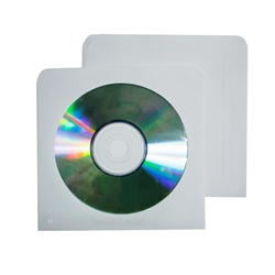 CD White Paper Sleeves  with window.