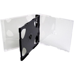 "3 CD Case - Triple Slim. 3/8"" Thick."