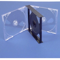 3 CD Case CENTER HINGED. 15/16'' Thick.