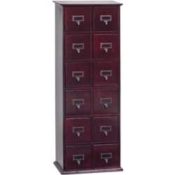 Multimedia Library Card File Cabinets. <br>Holds 228 CDs, 96 DVDs or 48 VHS Tapes.