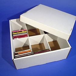 CD / DVD BIG Box - WHITE CORRUGATED CARDBOARD