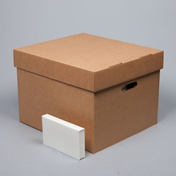 VHS Tape Storage Box   Corrugated Cardboard