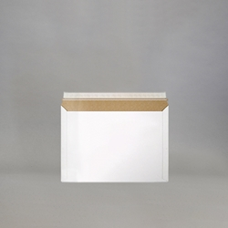 "Stayflats Lite Mailers .018"" thick white paperboard."