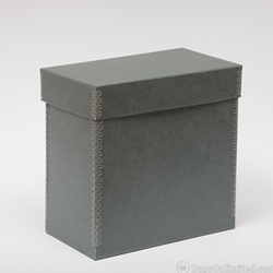 "12"" Record Storage Box, Blue-Gray Archival BARRIER BOARD"