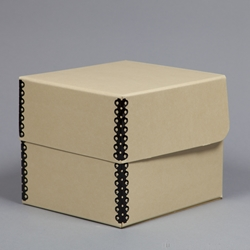 45 Record Storage Box, TAN Archival Barrier Board