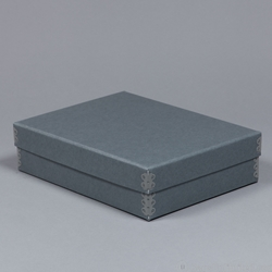 Audio Cassette Storage Box. Archival barrier board. <br>12 x 9 x 3
