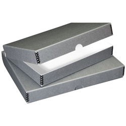 "Blue-Gray Archival Storage Box for 18 x 24"" Images"